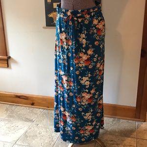 Summer Lovin Floral Jersey Material Skirt